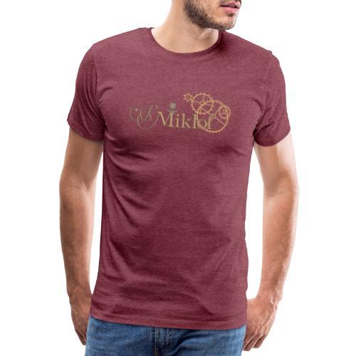 miklof logo gold outlined 3000px - Men's Premium T-Shirt