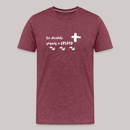 Seguir a Cristo - Camiseta premium hombre