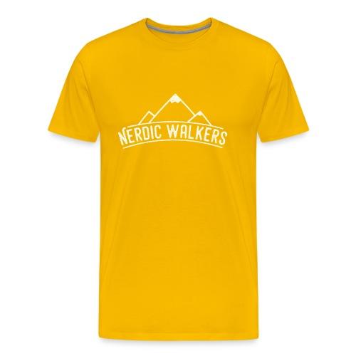 Logo Nerdic Walking offwhite - T-shirt Premium Homme