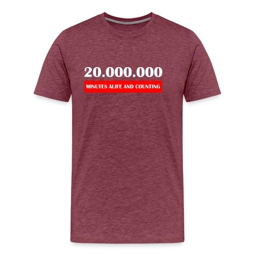 200000 Minutes Alive - Mannen Premium T-shirt