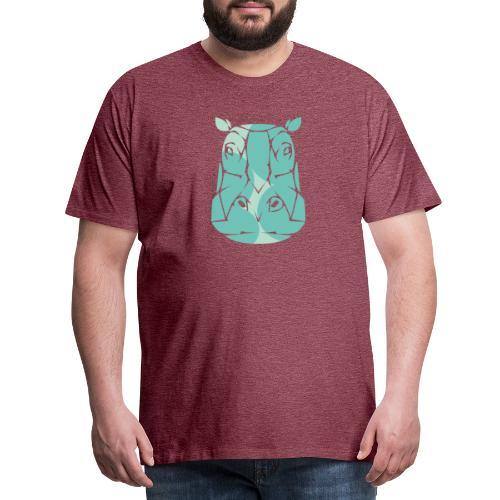 Nijlpaard hoofd - Mannen Premium T-shirt