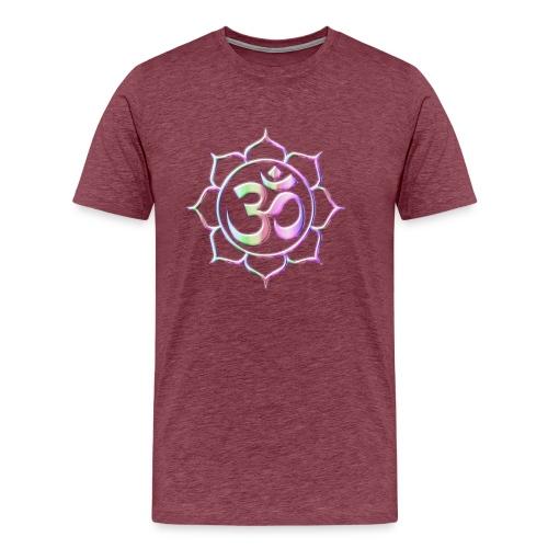 Namaste bunter verlauf pink - Männer Premium T-Shirt