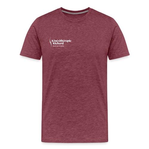 Logo Kiné Richard, White - Männer Premium T-Shirt