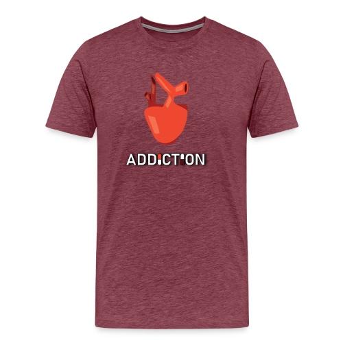 Addiction - Heart - Premium-T-shirt herr