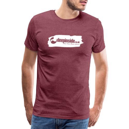 deepinside world reference marker logo white - Men's Premium T-Shirt