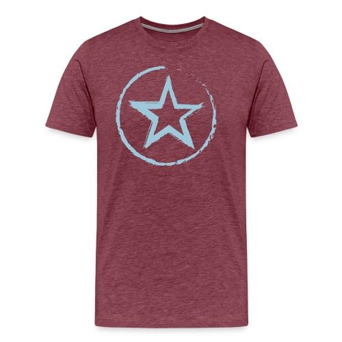 Stern mit Kreis - Männer Premium T-Shirt