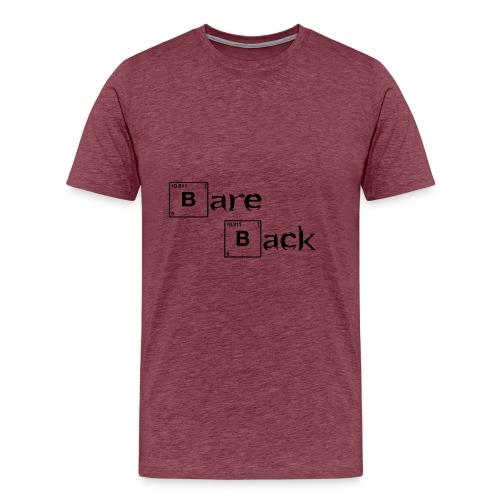 bare back negro - Camiseta premium hombre