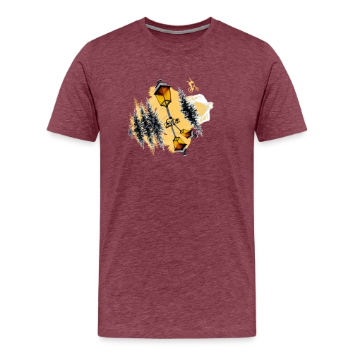 Ride Tek orange - T-shirt Premium Homme