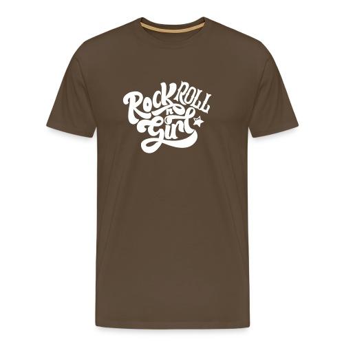 Rock n Roll Girl - Miesten premium t-paita