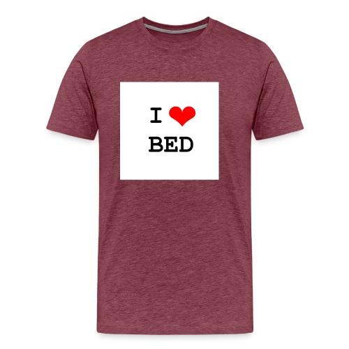 i heart bed - Men's Premium T-Shirt