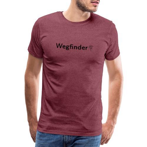 Wegfinder, schwarz - Männer Premium T-Shirt