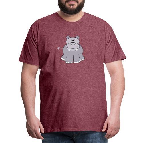 Nijlpaard - Mannen Premium T-shirt