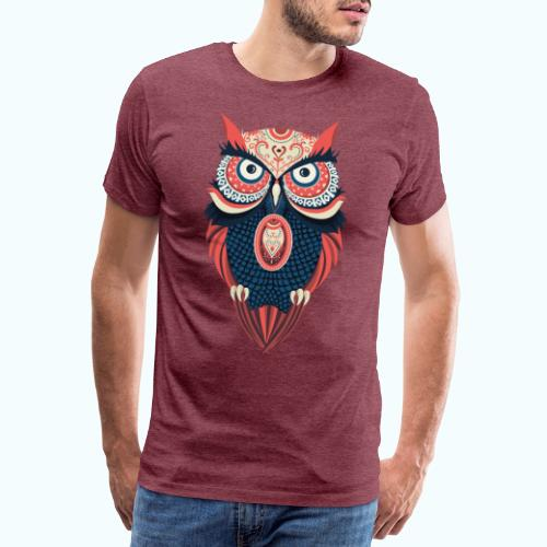 Hippie owl - Men's Premium T-Shirt