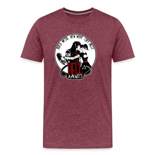 Hell Awaits - demonic couple - Mannen Premium T-shirt