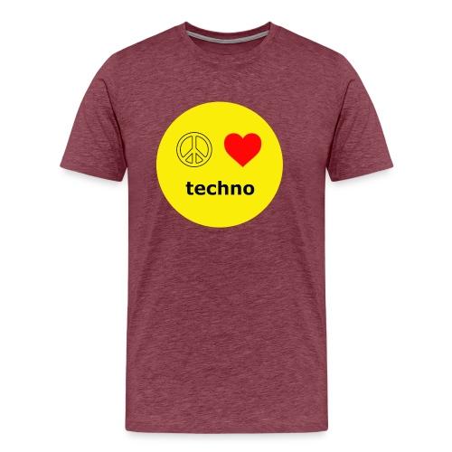 paz amor techno - Camiseta premium hombre