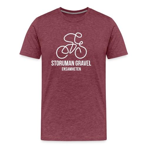 Storuman Gravel / Vit - Premium-T-shirt herr