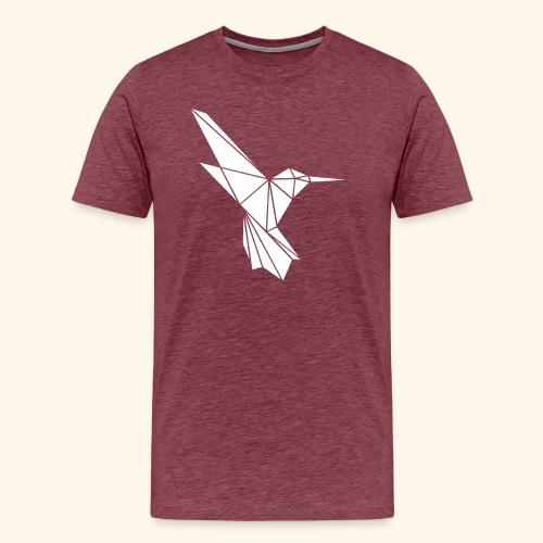 White Hummingbird weißer Kolibri aus Dreiecken - Männer Premium T-Shirt