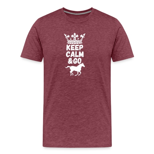 Keep Calm & Go Riding Pferde Reitsport Hoodie - Männer Premium T-Shirt