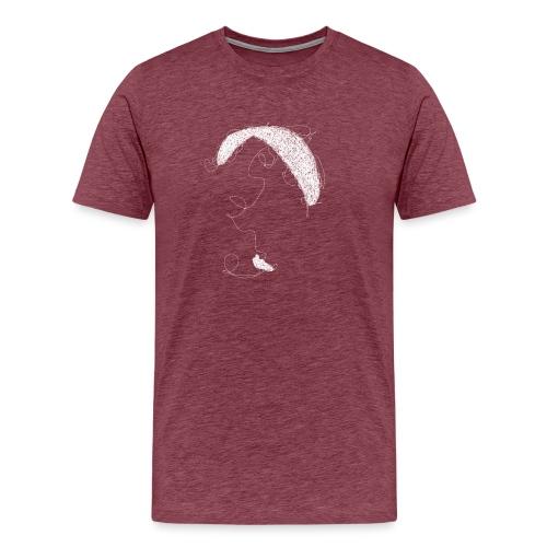 Paraglider scribble white - Männer Premium T-Shirt