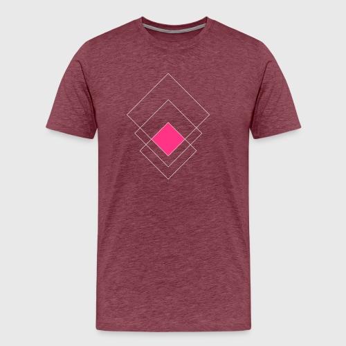 Schlichte Quadrate - Männer Premium T-Shirt