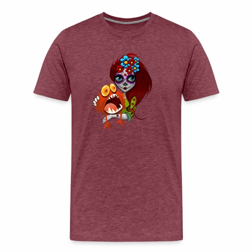 Catrina con Monstruo - Camiseta premium hombre