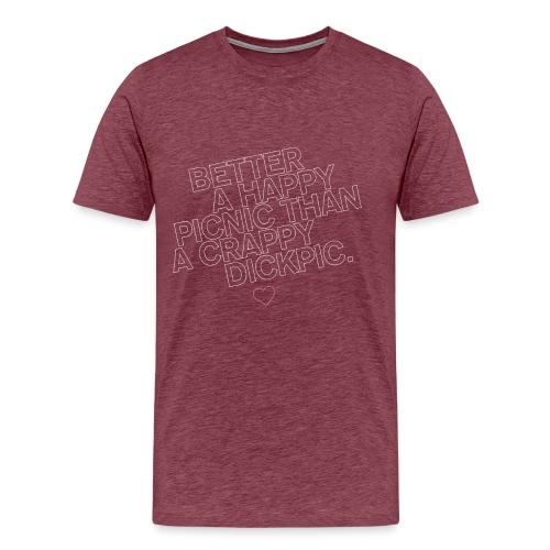 PICNIC vs DICKPIC - Männer Premium T-Shirt