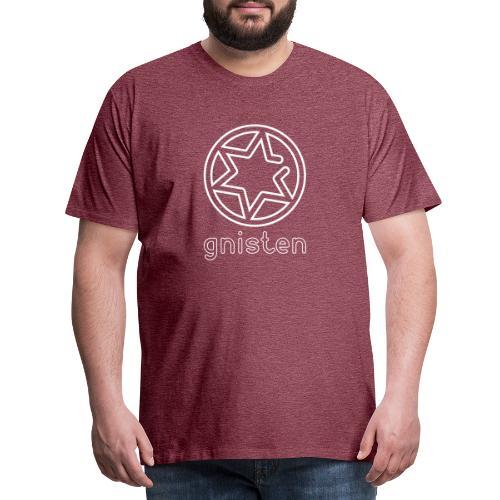 Gniste Ry (hvidt tryk - vertikalt) - Herre premium T-shirt