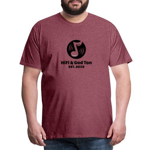 HiFi & God Ton logo svart - Premium-T-shirt herr