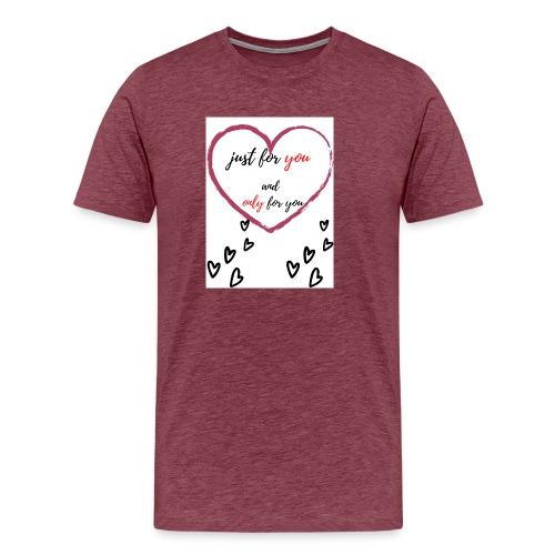 just for lovers design - Mannen Premium T-shirt
