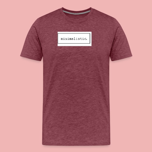 minimalistic desing GROSS - Männer Premium T-Shirt