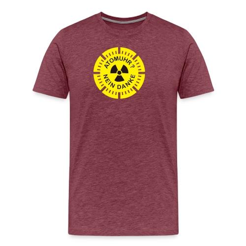 atomuhr_nein_danke - Männer Premium T-Shirt