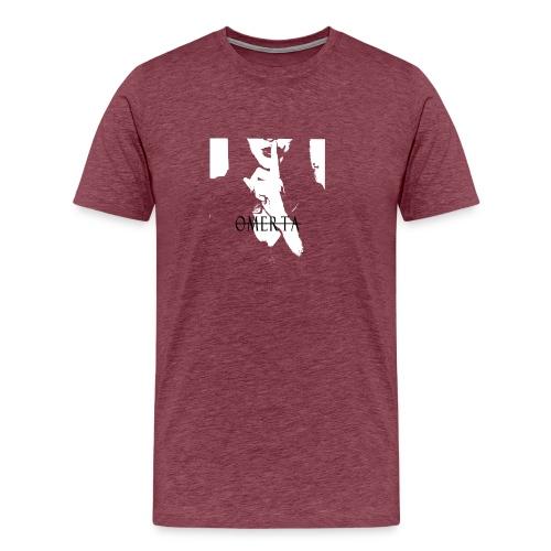 Omerta text zwart - Mannen Premium T-shirt
