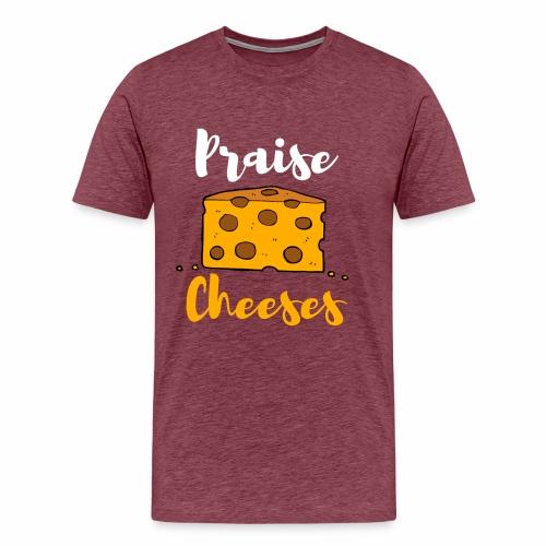PRAISE JESUS LUSTIGES CHRISTLICHES SHIRT - Männer Premium T-Shirt