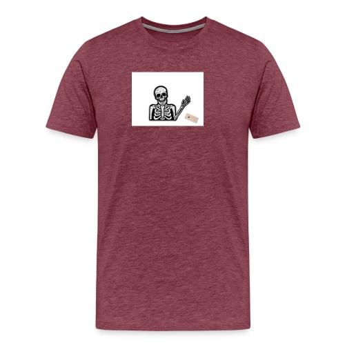 Skelett som tappar sin mobil - Premium-T-shirt herr