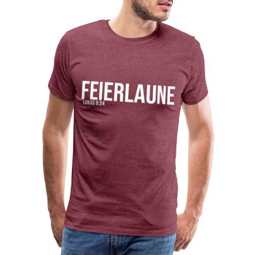 FEIERLAUNE - Print in weiß - Männer Premium T-Shirt