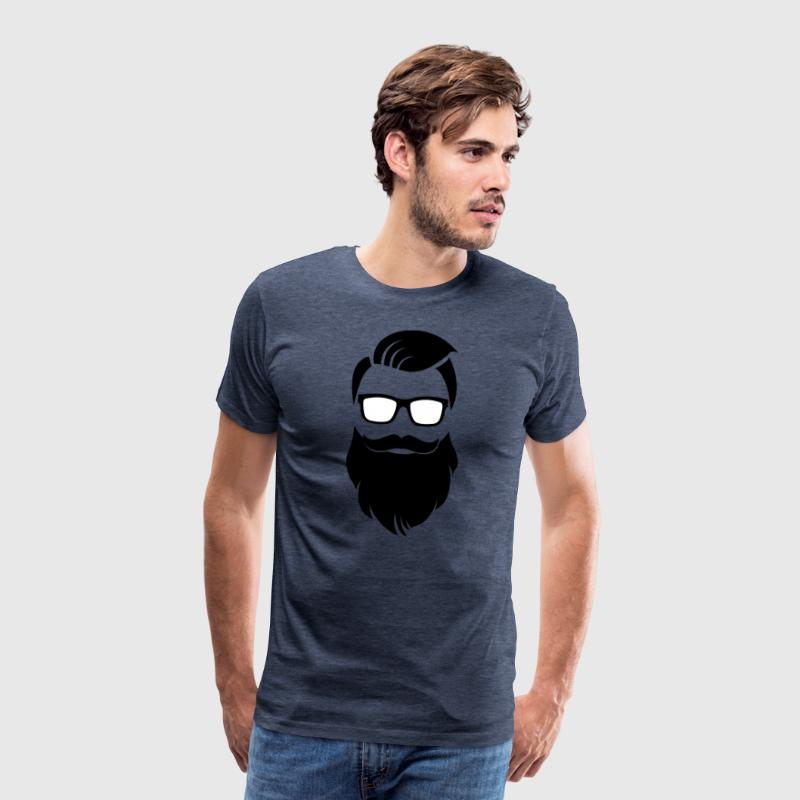 Hipster barbe - T-shirt Premium Homme