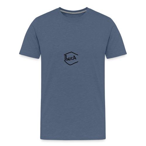 LucA-Logo schwarz - Männer Premium T-Shirt