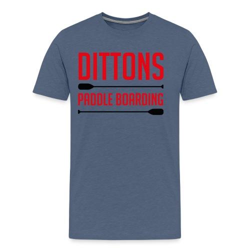 Dittons Paddle Boarding Logo - Men's Premium T-Shirt