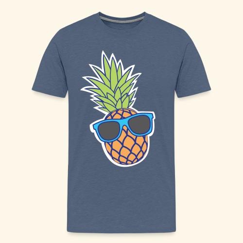 ananas met zonnebril - Mannen Premium T-shirt