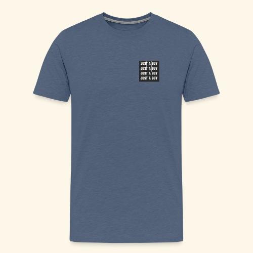 just a guy - Premium T-skjorte for menn