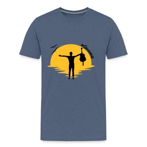 #Glückwärts Beach Edition - Männer Premium T-Shirt