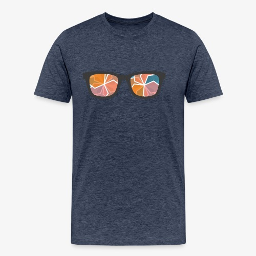 colour glasses - Koszulka męska Premium