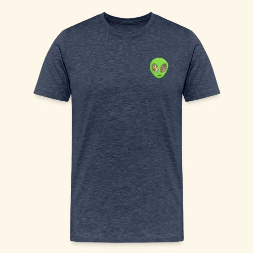 Alien hoofd 1 - Mannen Premium T-shirt