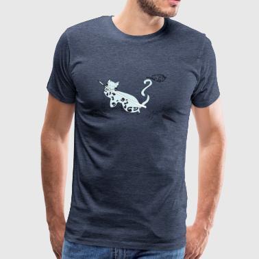 Cat al tåke 02 - Premium T-skjorte for menn