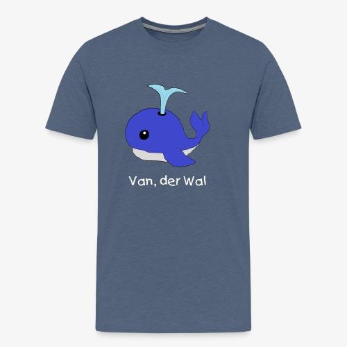 Van der Wal mit Beschriftung - Männer Premium T-Shirt
