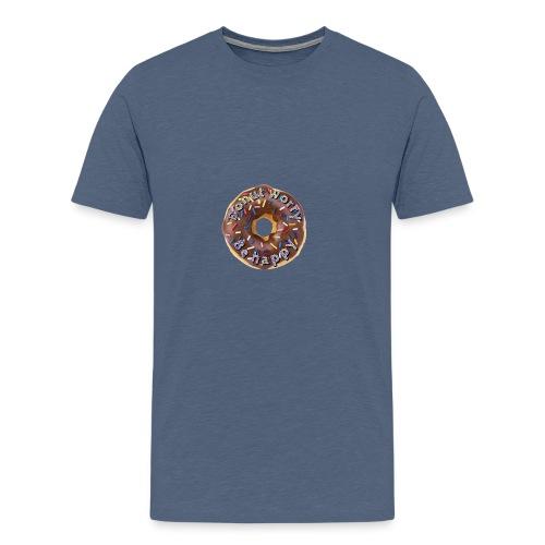 Donut worry. Be happy - Mannen Premium T-shirt