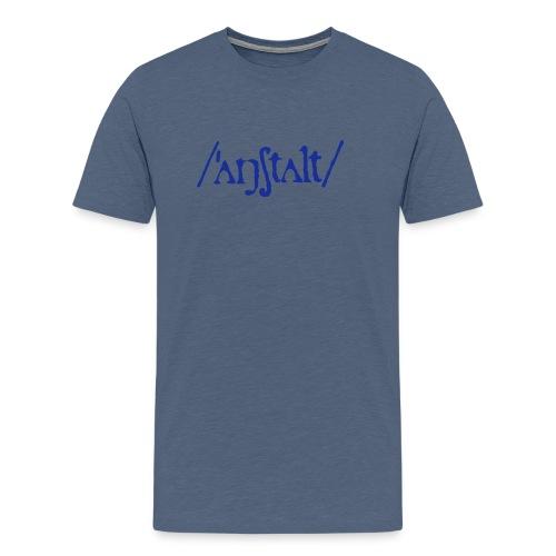 /'angstalt/ logo - Männer Premium T-Shirt