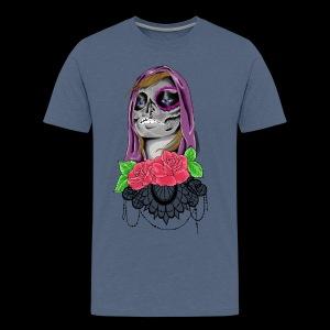 Day of the dead girl - Premium-T-shirt herr