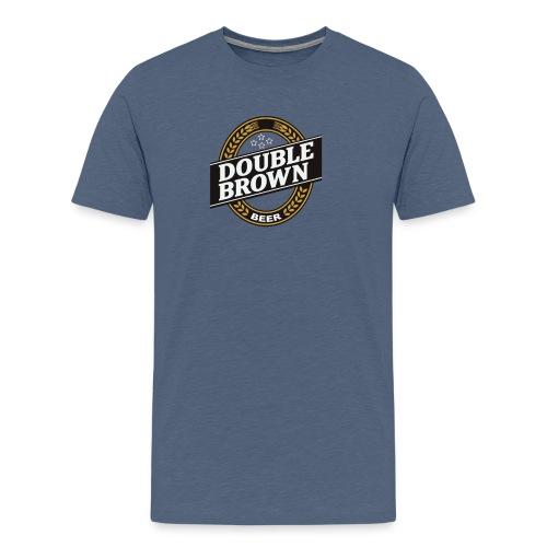 double brown beer - Men's Premium T-Shirt