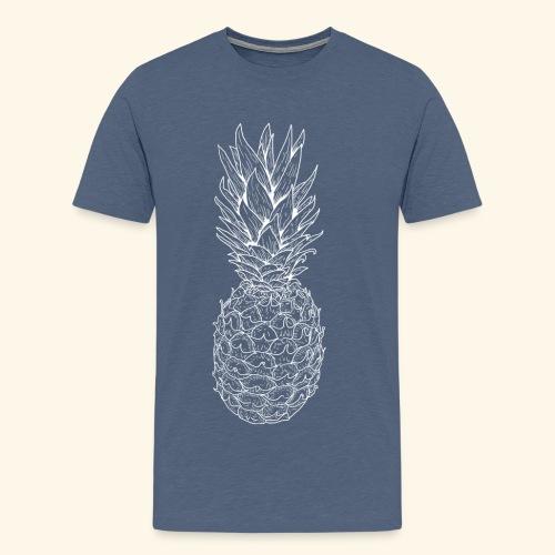 Ananas weiß - Männer Premium T-Shirt